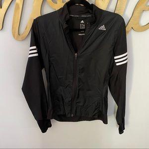 ADIDAS Running Black Track Jacket White Stripe